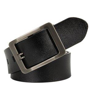 HreeCow Männer Gürtel Kuh Echtes Leder Luxus Strap Männliche Gürtel für Männer Neue Mode Klassische Vintage Pin Schnalle Dropshipping LJ200901