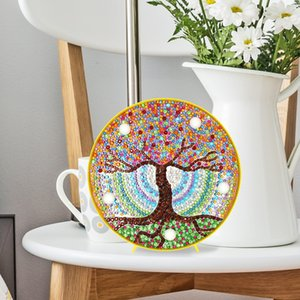 DIY 5D Diamond Painting Tree LED Night Light Painting Calligraphy Lamp Gifts for Home Bedroom Hotel Store Restaurant Club Decor Z1202