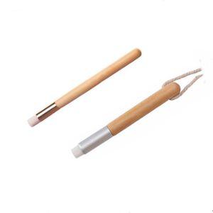 ماكياج ناسال غسل فرشاة تنظيف فرش شقة سوداء الأنف الألياف البطي قصير مقبض خشبي 113 ملليمتر طول الشعر 8 ملليمتر أدوات الملحقات YHM352
