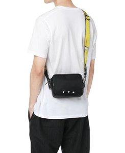 الصدر العلامة التجارية الخصر حزام قبالة قماش الأصفر رسول الكتف حقيبة الكتف بو كونغ أبيض أكياس صغيرة متعددة حقيبة ساتشيل 23123 الرجال qiccd