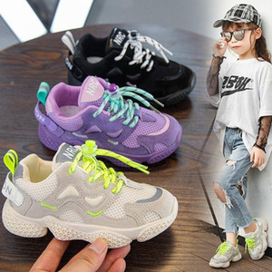 Children Kid Boys Grils 2020 Autumn Running Sneakers Sports Lightweight Breathable Casual Mesh Shoes Breathable Trainers