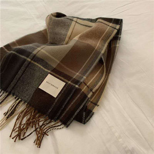 Winter Women Plaid Scarf Shawl 2020 Available Latest Sell Cashmere Female Classic Brand Wool Scarf Fashion Blanket High Quality 208*42CM