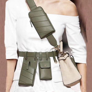 Femmes Sac de taille Mode Cuir Cuir Ceinture Bandbody Board Sacs Girl Fanny Pack Petit Pack Pack Pack Pack Strap Sangles