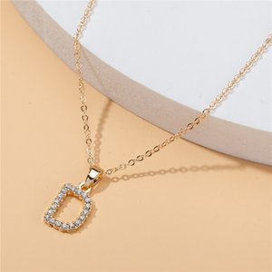 Diamond Letter Crystal Necklace Customized Necklace Pendant Lady Designer Clavicle Women Luxurys Necklaces Fashion Jewelry Gift C1-20 Whjhp