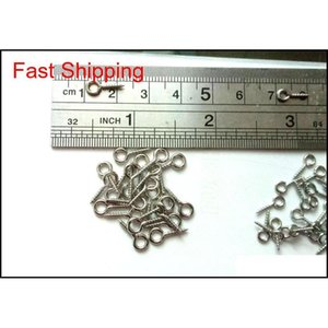 100pcs 304 Stainless Steel Tiny Screws Screw-on Eye Bolts Diy Connectors Findi qylxRX yh_pack