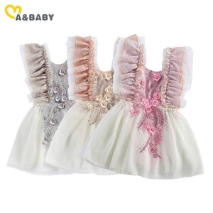 Ma&baby 0-24m Princess Newborn Infant Baby Girls Flower Dress Lace Ruffles Tutu Party Birthday Wedding Dresses For B jllevK
