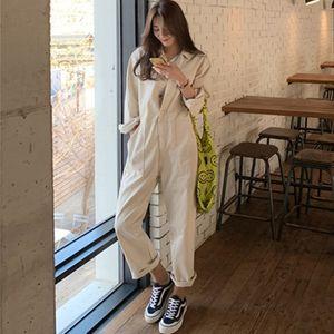 Lanmrem Lanmrem New Summer Fashion Women Vestido de mujer Cuello de giro Mangas completas Mono de solo pecho WL92906XL T200509