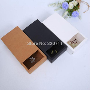 24x11.5x7cm Paper Drawer Gift Boxes Kraft Brown Handmade Soap Packaging Boxes Party Storage box For Jewerly Candy Handicraft