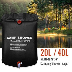 20 40L High Capacity Outdoor Shower Water Bag Family Portable Shower Bag Camping Hiking Solar Heated Wonderful Kits