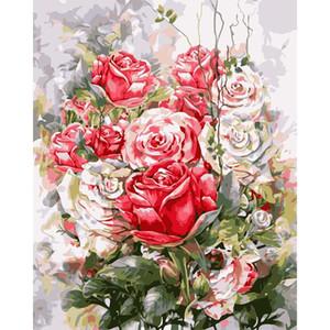 royaldream 페인팅 숫자 캔버스 그림 홈 벽 예술 그림 거실에 대 한 그림 독특한 선물 Z1202