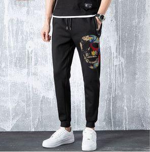 Superior 2020 Nuova qualità Stras di cotone Uomo Pantaloni da jogging Pantaloni Hip Hop Hot Drill Sweatpants Ganbu Brand 5J9C