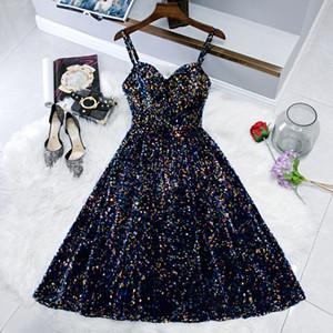 Kleid 2021 MRS Win formale Abendkleid Klassische Sweetheart Bling Pailletten Elegante Spaghetti Strap Robe de Soiree