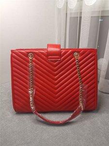 2020 neue flut handtasche totes beutel luxus frauen tasche echt leder metall kette handtasche hohe Kapazität Reisetasche