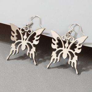 Trend Cool Hollow Butterfly Earrings Eardrops Personalized Graceful and Wild Creative Butterfly Earrings Women