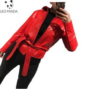 Custodia da donna in cuoio e vera cappotto da donna Camicia genuina 2021 Giacca autunnale Donne Qualità Superior Sheep Sheep Sheets Coat1