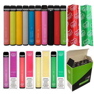 Couvercle en silicone Tip plat Puff Plus Vape Vape Pen 3.2ml Pod de vapeur Code de sécurité authentique 10 pcs par pack Puff bar plus
