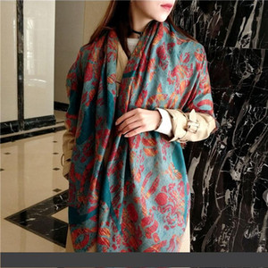 Fashion flame peacock animal for high density new luxury new cashmere wool thin shawl spring summer sun protection scarf shawl dual use