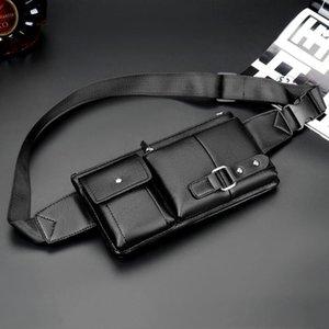 Men Fashion Waist Pack Retro Multi-function Pockets Outdoor Sports Leisure Messenger Chest Bag Male Business Money Cash Bags