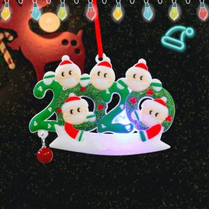 LED Christmas Ornaments PVC Pendant Gift Survivor Family Christmas Tree Quarantine Decoration Xmas Tree Light Pendent