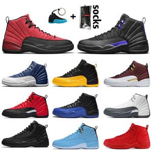 Nike Air Jordan 12 12s Jordan Retro 12 Jumpman Ters Gribi Oyunu Koyu Concord Erkek Basketbol Ayakkabı satenÜrdünÜniversite Altın Indigo Indigo spor ayakkabıları Retro