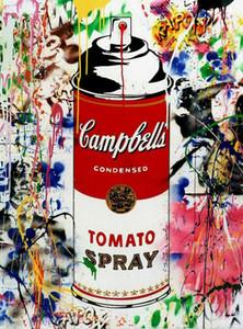 Sr. Brainwash Graffiti Art Decor Campbell Tomate Spray Handpainted HD Imprimir Pintura al óleo sobre lienzo Arte de la pared Imágenes de lienzo 200