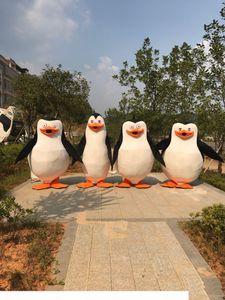 Factory Vente directe Pingouins de Madagascar Penguin Mascot Costume Fantaisie Taille adulte