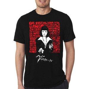 T Shirt Pulp Fiction Quentin Tarantino Cult Film Balck e Bianco Uma Thurman Mia Wallace Overdose Sigarette 100% cotone