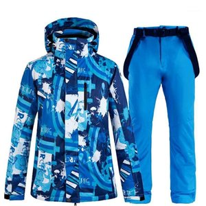 NEW Skiing Jacket and Pant Snow suits Men ski sets Warm Waterproof Windproof Snowboarding Sets winter outdoor clouthes1