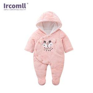 Ircomll Baby Born Vêtements Romper Soft Fleece Soft Capuche Jumpsuit pour bébé pour garçons Vêtements Bébés Q1122