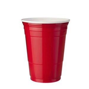10pcs Set Party Cup Bar Restaurante Suministros de restaurantes Artículos para el hogar para suministros para el hogar 450 ml Taza de plástico desechable rojo F WMTEDV