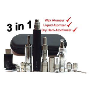 EGO 3in1 Vaporizer Starter Kit Thick oil Vape Starter Kit Dry Herb Atomizer Wax Pen MT3 Clearomizer 3 IN 1 Battery Vaporizers Pens