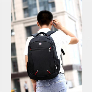 Casual Solid Color Material Oxford Mans Backpack Multi functional Large capacity Student Schoolbag Simple Bag