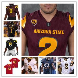Özel NCAA Futbol Arizona Devlet Asu Jersey Pat Tillman Jayden Daniels Rachaad Beyaz Evan Fields Deamonte Triko Jermayne Lole Matus