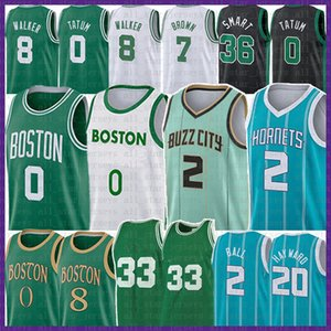 Lamelo 2 Ball Jayson 0 Tatum 2021 New Basketball Jersey Retro Gordon 20 Hayward Kemba 8 Walker Marcus 36 Smart 33 Jaylen 7 Brown Men Jerseys
