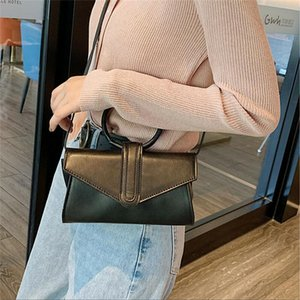 Women Handbag PU Leather Satchel Shoulder Bag Tote Lady Messenger Crossbody Fashion Magnetic Buckle Handbag Simple Shoulder Bag