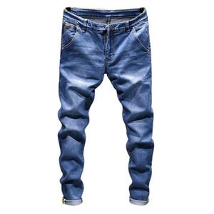 Brand denim biker jeans men Slim Fit Washed Vintage Ripped jeans for men Elastic Denim Pants skinny