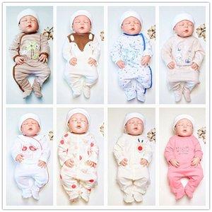 Caido caricatura lindo animales impresión bebé onesies recién nacido patas pijamas roupa de bebes algodón de algodón bebé ropa ropa 201216