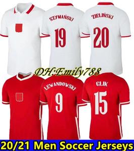 2020 2021 Polska Lewandowski كرة القدم جيرسي قمصان المنتخب الوطني Zielinski Piatek Milik Piszczek Futbol Camisas كرة القدم Camisetas قميص