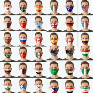 2021 мода дизайн флаг маски 3 слоя моющиеся повторные настраиваемые пылезащитные рот крышка маски дизайнерская вечеринка маска оптом