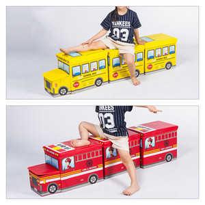 Multi-Function Bus Shape Storage Box For Toys Kids Clothes Folding Cartoon Car Toy Storage Basket Children Storage Bin Dropship Z1123