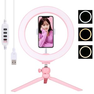 Durable And Practical LED Ring Vlogging Selfie Photography Video Lights With Cold Shoe Tripod Ball Head