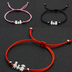 Creative Bracelet We Are Family Jewelry Stainless Steel Women Mens String Chain Rope Adjustable Bracelets 2 5nc K2