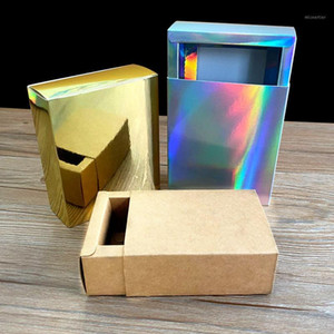 10 pieces of holographic gift box Wedding Christmas   candy   handicraft cake Handmade Soap wrapping gift box1