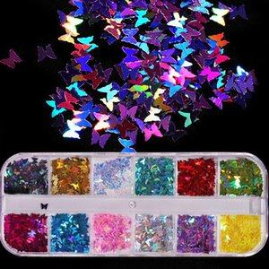 Stickers & Decals Butterfly Nail Sequins Mixed Colors Glitter Flakes Paillettes For Nails Art Manicure DIY Tools Accessories