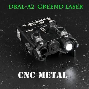 IR 레이저 화이트 가벼운 스트로브 버전 SureFir 손전등 Dbal A2와 금속 전술적 인 Dbal-A2 라이트 Airsoft 블루 / 레드 / 그린 레이저