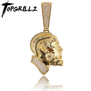 TOPGRILLZ R.I.P Nipsey Hussle Necklace & Pendant With Tennis Chain Iced Out Bling Cubic Zircon Shining Men's Hip Hop Jewelry1