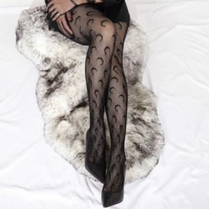 New Ladies Fashion Tights INS Trendy Moon Pattern Fishnet Socks 2020 New Style European American Fashion Stockings Top Quality Tights