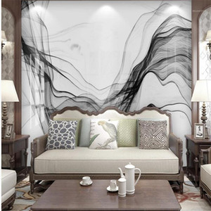 Modern minimalist abstract marble pattern background wall 3d murals wallpaper for living room1