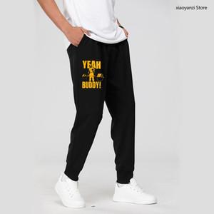 Homem de moletom Yeah amigo Body Body Edifício Casual Sportswear Calças Longas Calças de Roupas Imprimir Sweatpant Top-074563 x1116