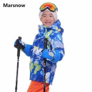 Marsnow Children Ski Jackets Kids Winter Warm Jackets for Boys Girls Waterproof Windproof Outdoor Skiing Snowboarding Jackets Z1128